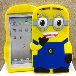 3D silicone case for ipad mini 2,despicable me case for ipad mini 2