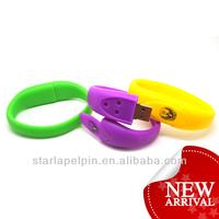 cheap Bulk 2gb memorial silicone usb flash drive wristband