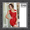 Red Fashion Bandage Dress Celebrity Women dress sleeveless hl dress