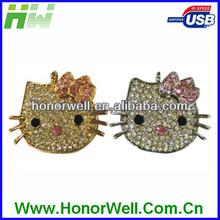 OEM Diamond Jewelry USB Flash Drive with Key Chain