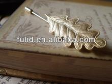 brass gold plating enamel or casting stick lapel pin