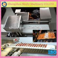 Automatic kebab wearing machine /Wear kebab machine/ meat kabab making machine for sale 0086-15838059105