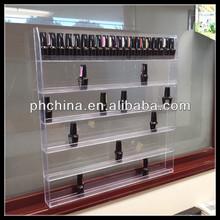 Retail store Custom plexiglass wall mount holder/nail polish display acrylic/nail polish wall rack