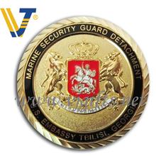 Marine soft enamel metal coins