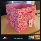 Pink Print Non-woven Foldable Collapsible Storage Bin & Box