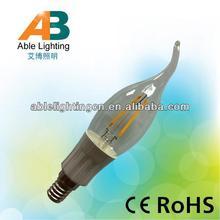 100v 6500k led light 1.5w cob 350lm lamp e12 led candle bulb 3 watt
