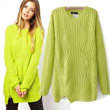 European and American 2014 fashion wool sweater women winter coat
