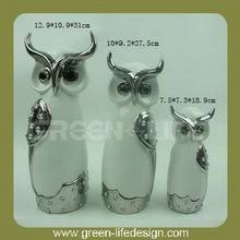 Owls craft decorative ceramic