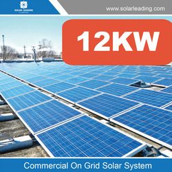 12KW roof mount grid tied photovoltaic system solar home for commercial solar system grid pv application