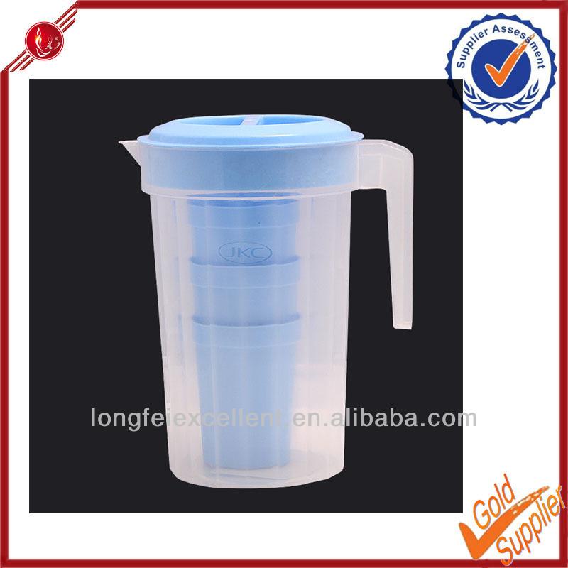 Plástico cantina e mais frio garrafa de água e plástico jarro com alça
