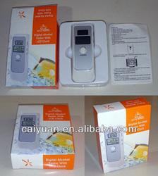 Digital Backlight LCD Alcohol Tester Breathalyzer Analyzer with Time clock