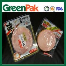 PA/PE Plastic flexible soft ham vacuum packing bag with printing