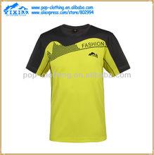 china fashion el scoop neck men baseball/football t shirt