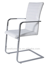 modern metal plating black leather chair dining chairs with arms