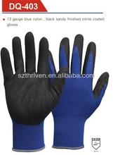 sandy finished working safety nitrile gloves