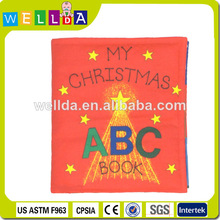 2015 High quality my hot soft book cloth toy abc book