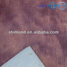 Gradient Brown Color Crocodile Pattern PVC Leather For Bag, Sofa & Decorative