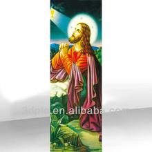 Lenticular oil painting 3d christ jesus pictures