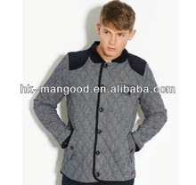 men's basic boat tweed quilted jacket