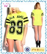 Top Quality Women 100% Polyester Mesh Yellow Basketball wear