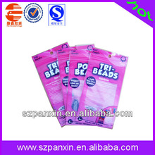 ziplock colorful beads plastic packing bag