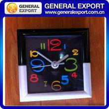 18cm*18cm Rectangle Black&White Plastic Decorative Alarm Clocks