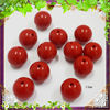 wholesale quality red Round loose acrylic chunky beads for charm jewelry