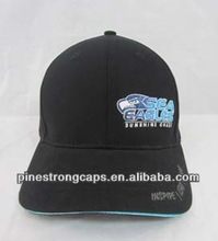 flat embroidery double sandwich baseball cap and hat