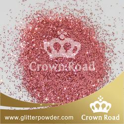 1/128 metallic rose fine glitter powder