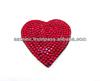 fashion bling rhinestone pocket mirror with heart design
