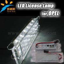 wholesale 7000k xenon white led license plate light for OPEL 12v DC led car lamp