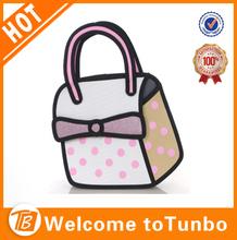 2014 handbag shoulder bag comic bag bowknot cute bag for fashion clear girl