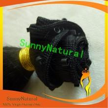 Coarse Yaki Human Hair Brazilian Hair Extension with nano