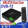 Factory supply Amlogic-8726 xbmc hdmi sky box dvb t2 receiver