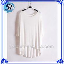 Tips unisex gift clothing Rayon polyester girls plain white t-shirts custom t shirt for women