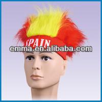 Hand made Spain sport football fans' wigs W207