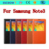 High-quality goods Genuine leather flip case for samsung note 3 for galaxy note 3 leather case