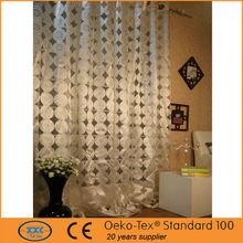 Elegant polyester circle ready made sheer curtain
