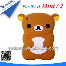 hot selling bear cartoon for ipad mini 2 silicone case cover
