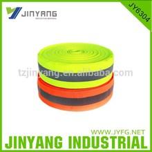 Safety Vest Trim Reflective Stripe on Fluorescent Yellow Trim
