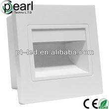 epistar /bridgelux chip led recessed wall light rectangular