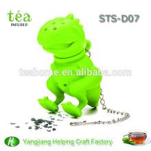 silicone passoire à thé cadeau promotionnel de cadeau de vacances de dinosaures en silicone mini filtre à thé en plastique tamis