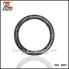 Car steering wheel cover Handle cover Gray leopard Animal pattern Polyester fabric PVC coated white T.P.E tube S size Japan