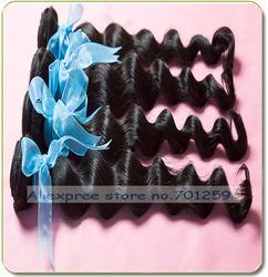 5a brazilian loose wave human hair extensions/virgin braizlian ocean tropic loose