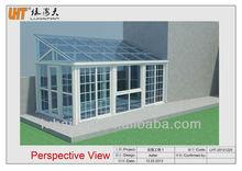 New design top grade PVC tempered glass garden sun rooms