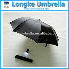 Folding LED umbrella/2 fold torch handle umbrella
