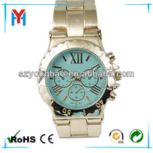 Good Quality wrist watch for men with gold tone bracelet
