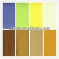 grão de madeira e cor sólida acabamento pvc folha