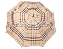 23 Inch Leather Curve Handle Wholesale Cheap Rain Umbrella