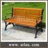 Antique outdoor garden wooden bench with cast iron legs FW20